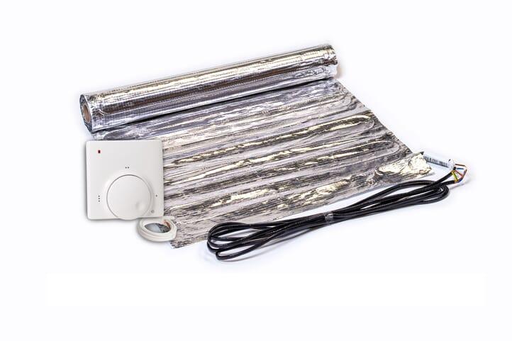 SFX® Fußbodenheizung elektrisch 150Watt/m²  Set aus Heizmatte & Regler Aluminium-Matte 1,0m² - 15,0m² Flachheizung
