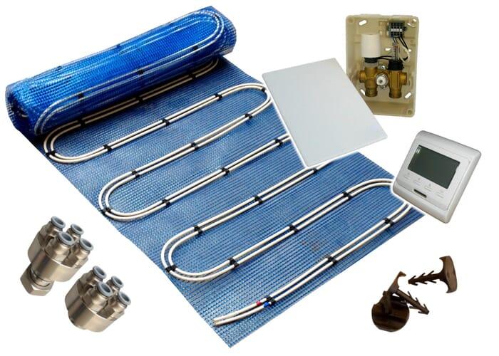 SFX® Fußbodenheizung Duo Warmwasser E-Regelbox Digital Heizmatte 2,5-20m²