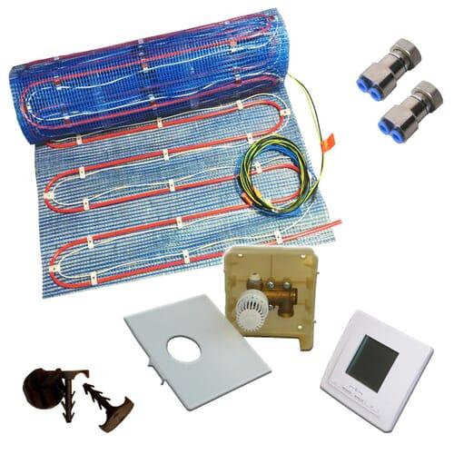 SFX® Fußbodenheizung 2,5 - 10m² Warmwasser / Elektro Variant mit Digital Regler